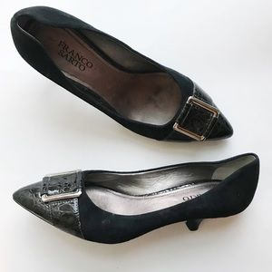 Franco Sarto • Genuine Leather Pointed Toe Pumps